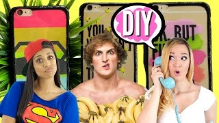 DIY Youtuber inspired Phone Cases Lilly Singh, Logan Paul, Alisha Marie | pastella 28