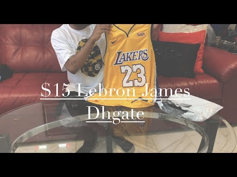 best sneakers e0af8 04f2b $15 DHGATE Lebron James Jersey - YouTube