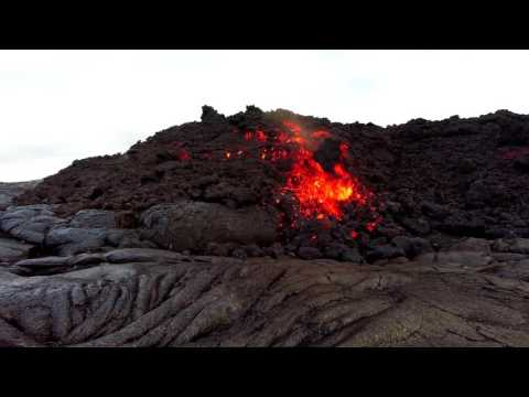 Hawaii Kilauea Volcano A'a Lava Flow 6 30 16 lava 4k 60p GoPro