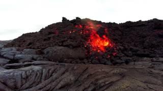 Repeat youtube video Hawaii Kilauea Volcano A'a Lava Flow 6 30 16 lava 4k 60p GoPro
