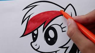 Coloring My Little Pony for Kids. Coloring pages My Little Pony  for children