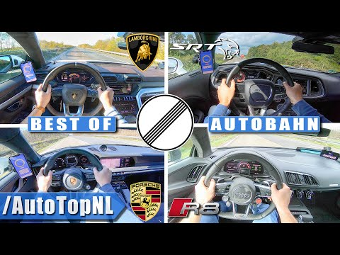BEST Of SUPERCARS On AUTOBAHN (NO SPEED LIMIT!) By AutoTopNL