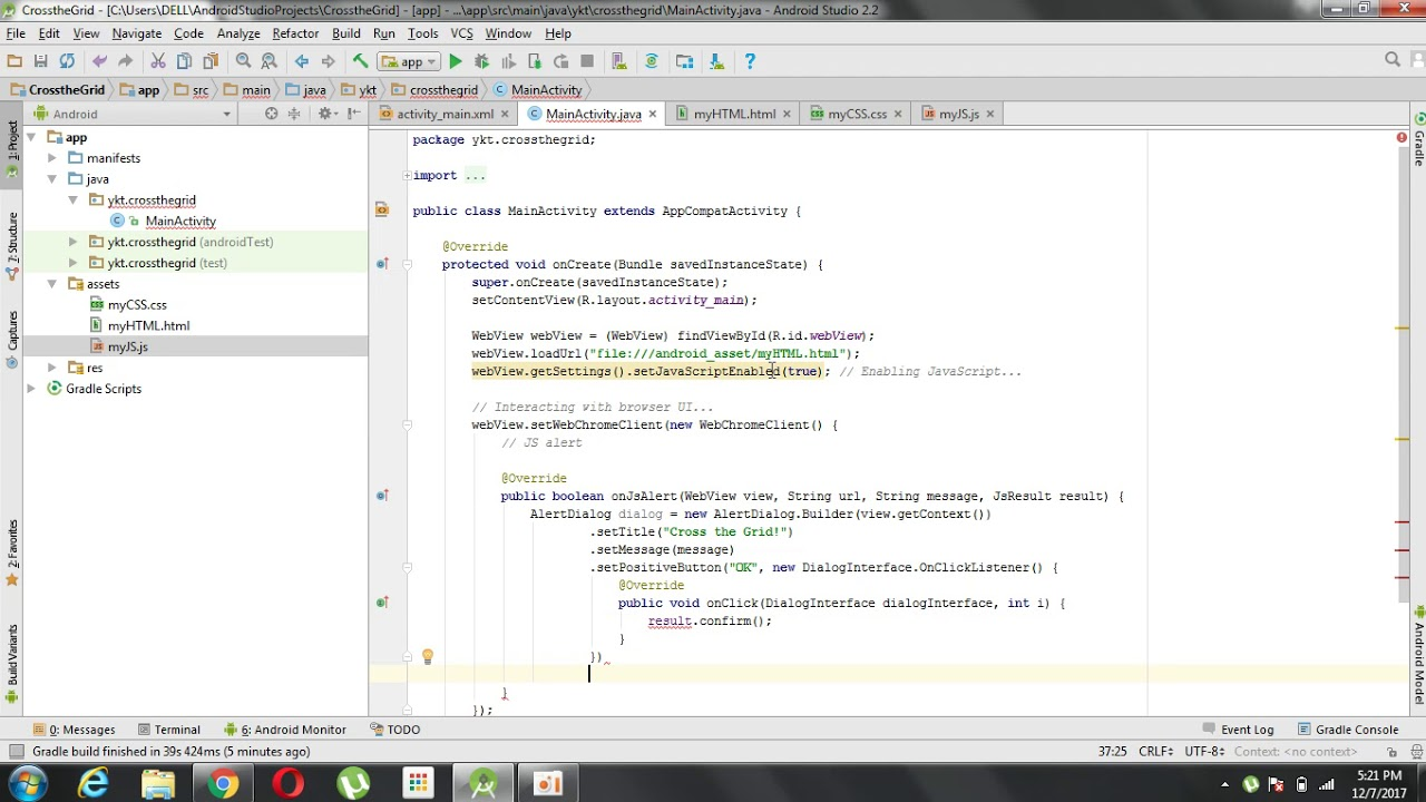 Converting a HTML+CSS+JS Code into an Android App using Android Studio!