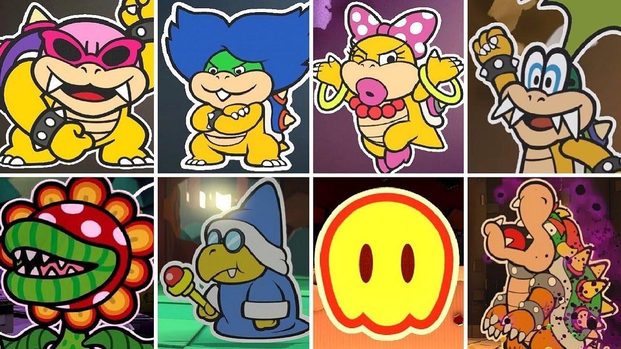 Paper Mario Color Splash - All Bosses