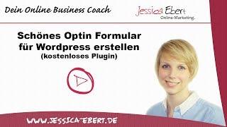 Optin Newsletter Formular für Wordpress - Schön und kostenlos!