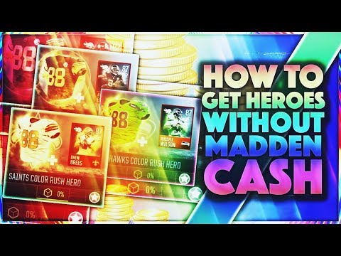 HOW TO GET COLOR RUSH HEROES Without SPENDING MONEY! Madden Mobile 18 GUIDE!