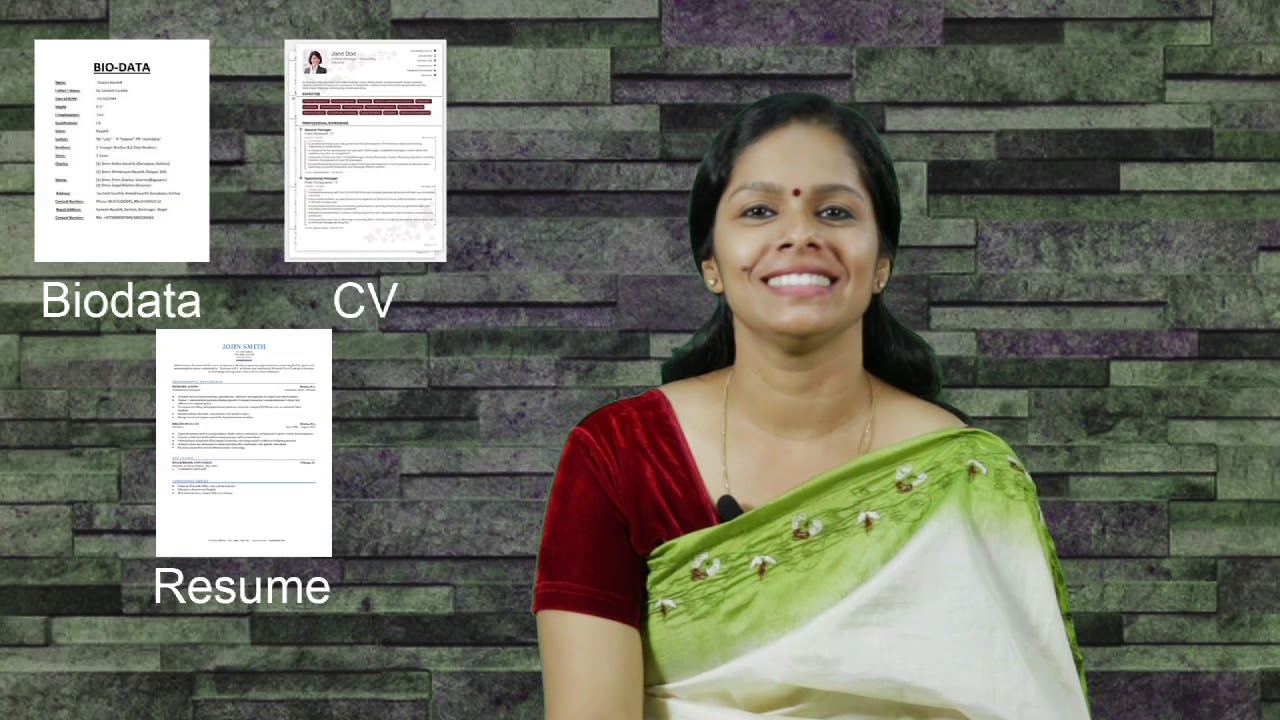 Resume, CV and Biodata..Do you know their difference ...