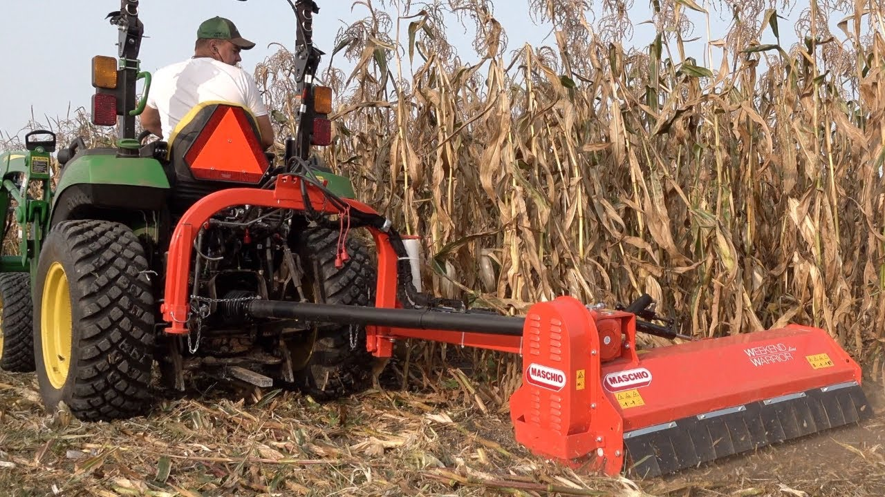 Can Flail Mower Mulch Corn Stalks??  Lube Shuttle Winners!!