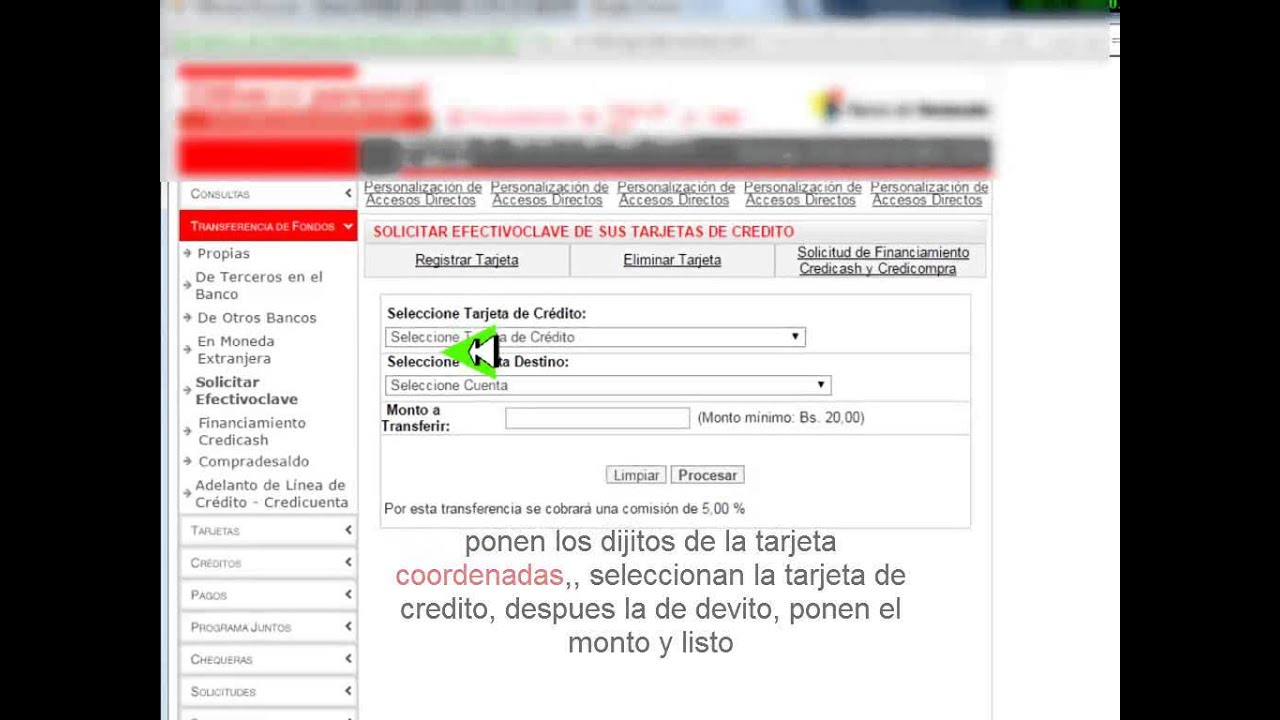 Como activar tu tarjeta de credito del banco de venezuela for Banco de venezuela clavenet personal