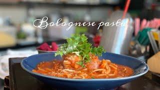 ENG) story 14|볼로네제 파스타 만들기/토마토…