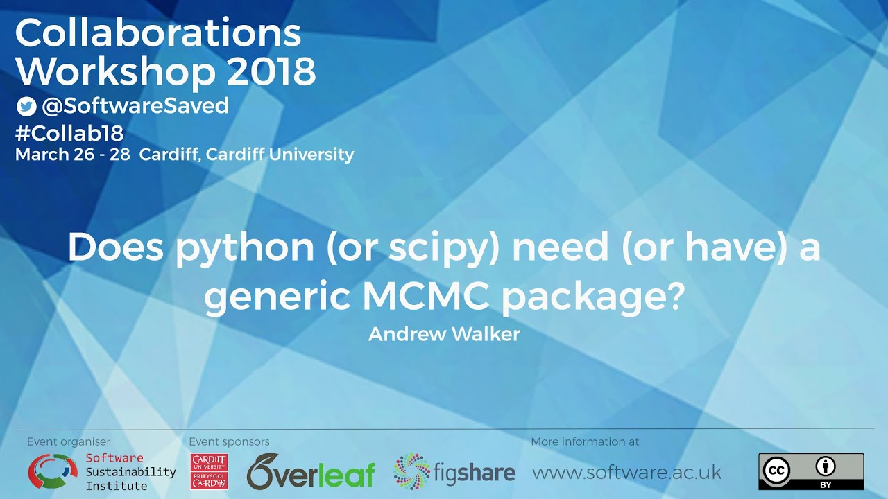 Does Python (or SciPy) need (or have) a generic MCMC package?