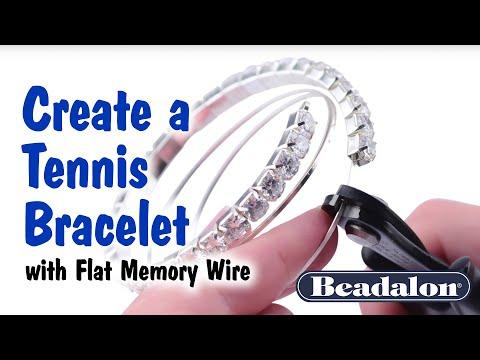 Beadalon - Flat Memory Wire Tennis Bracelet