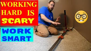 CARPET INSTALLATION SPEED TIPS!