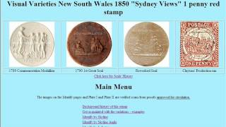 Postage Stamps - NSW 1850 1d red Sydney Views Series