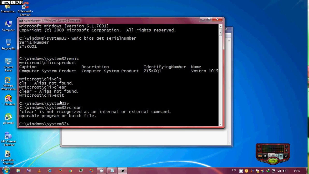 find hard drive serial number windows 10