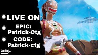 LIVE FORTNITE - CODE Patrick-ctg / MINHA EPIC Patrick-Ctg