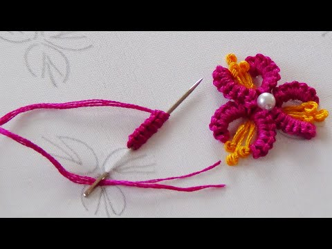 Hand Embroidery: Brazilian Embroidery/ Cast on Stitch/Buti Embroidery