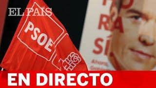 DIRECTO PSOE 10-N | Rueda de prensa tras la reunión de la Comisión Ejecutiva Federal