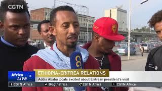 Eritrean President Afwerki on historic visit to Addis Ababa