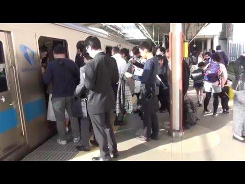 小田急線 朝の通勤ラッシュ 新百合ヶ丘駅 朝7時20分~8時20分頃 混雑 ダイヤ改正前