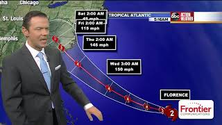 Hurricane Florence is rapidly strengthening, National Hurricane Center says