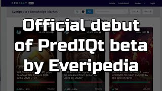 Sam Kazemian Demos the PredIQt Knowledge Market by Everipedia