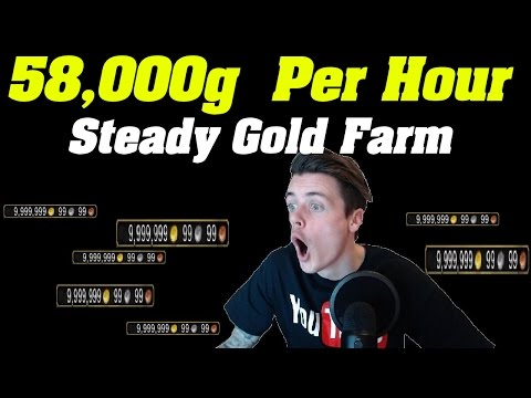 Legion: 58,000 Gold Per Hour | 10 Hour farming Session | Crab skinning