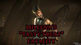 mortal kombat x mileena s tasty treat fatality performed on all characters