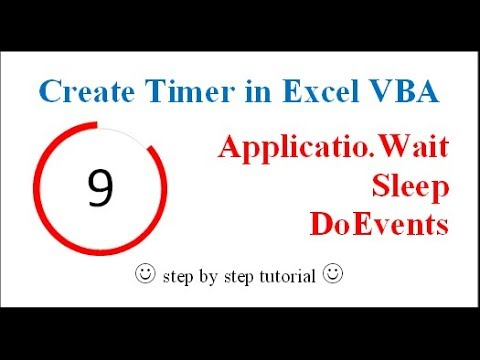 Create Timer in Excel (Wait, Sleep, DoEvents Functions)