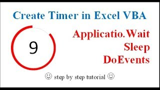Create Timer in Excel (Wait, Sleep, DoEvents Functions