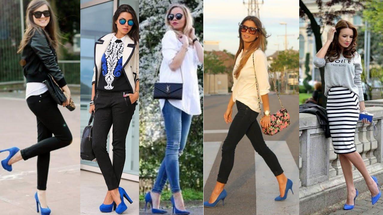 Moda 2020 Combinaciónes De Outfits Con Zapatos Azules Como Combinar Zapatos Azules Youtube