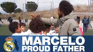 Marcelo, a proud dad to a Real Madrid CHAMPION!