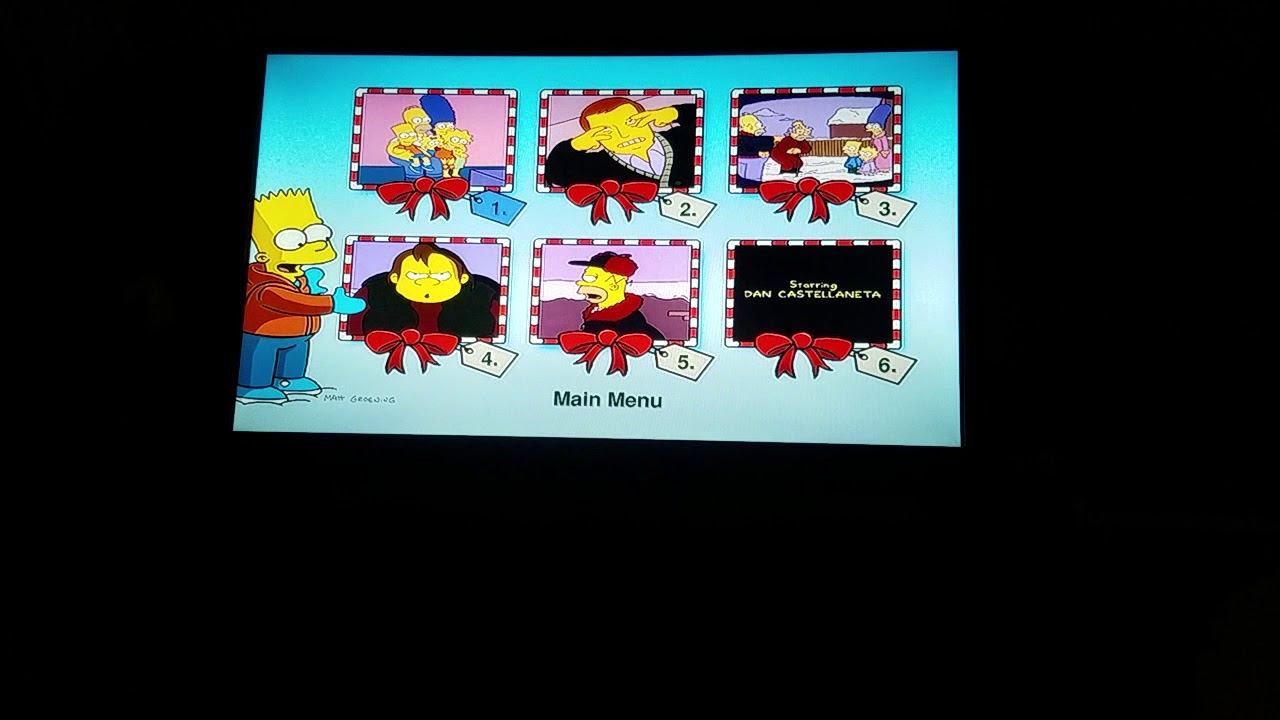 The Simpsons Christmas Dvd.The Simpsons Christmas Dvd Menu Walkthrough