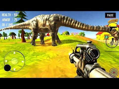 ГОРОД ДИНОЗАВРОВ Охотник на ДИНОЗАВРОВ #1 игра прохождение на андроид Dinosaur Hunter Dino City