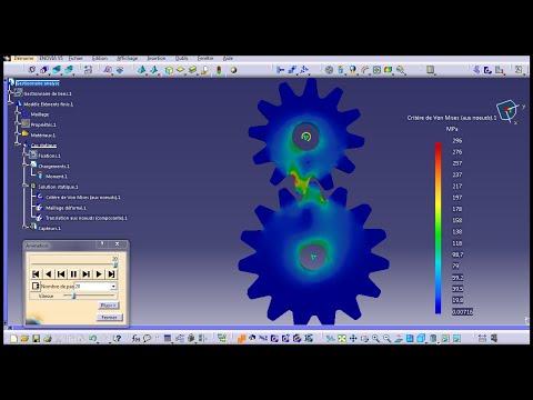 Gear Simulation Catia V5 FEM Structure Analysis