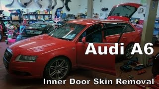 Removing the door skin on Audi A6 (C6 4F)