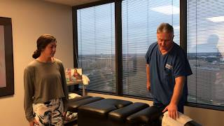 Houston Teen Softball Player Gets Her First Chiropractic Adjustment