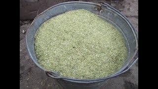 результат дробления сена. измельчитель 18,5квт