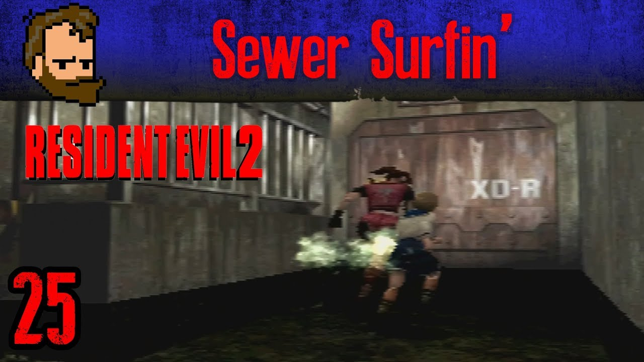 Sewer Surfin Let S Play Resident Evil 2 Claire Ps1 Ep25