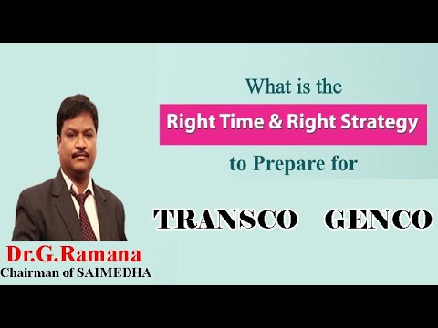 How to prepare for GENCO/TRANSCO AE (Part 1) by Dr. G. Ramana