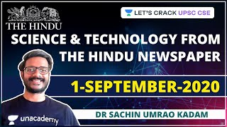 Science and Technology from The Hindu Newspaper | 1-September-2020 | Crack UPSC CSE/IAS