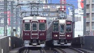 阪急丸ごと朝ラッシュ in 岡町 種別行先色々 2017.2.13