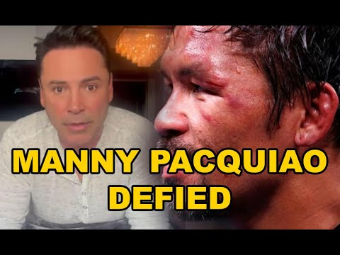 Manny Pacquiao defied, Oscar Delahoya released after 3 days