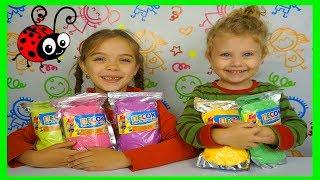 Nisip Kinetic in 5 culoriInvatam culorileVideo pentru copiiLearn colors with Kinetic Sand