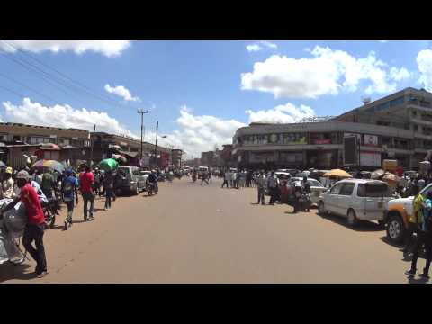 KAMPALA downtown driving on Nakivubo Place, UGANDA May 2015 by Full HD