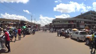 KAMPALA downtown driving on Nakivubo Place, UGANDA May 2015 by…