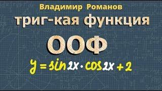 тригонометрия ОБЛАСТЬ ОПРЕДЕЛЕНИЯ и МНОЖЕСТВО ЗНАЧЕНИЙ тригонометрических функций