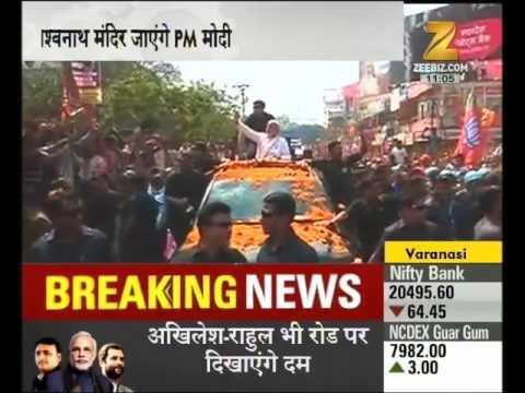 Road show of PM Modi started in Varanasi