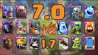 7.0 vs 1.7 Elixir Deck in Clash Royale | Troll Battle