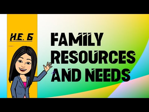 HE 6: FAMILY RESOURCES AND NEEDS